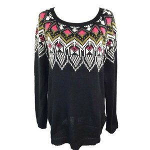 FOREVER 21 -Tunic Sweater Tribal Scoop Neck